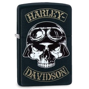 Zippo Harley Davidson Skull Motorbike Rider Black Regular Windproof Lighter