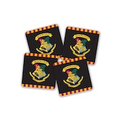 Harry Potter Hogwarts Crest Coasters - Set of 4