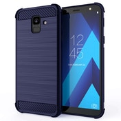 CASEFLEX SAMSUNG GALAXY A6 (2018) CARBON ANTI FALL TPU CASE - BLUE