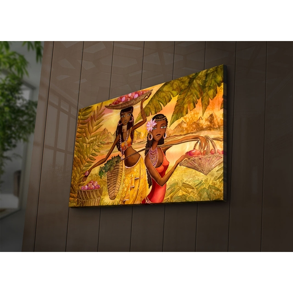 4570?ACT-55 Multicolor Decorative Led Lighted Canvas Painting