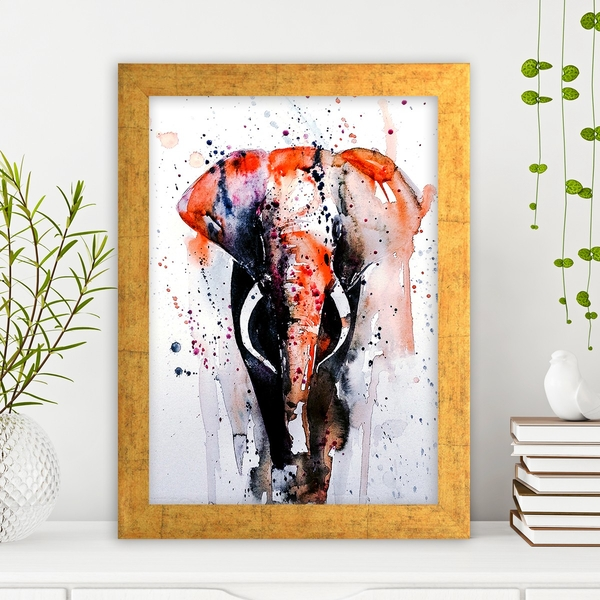 AC1024311550 Multicolor Decorative Framed MDF Painting