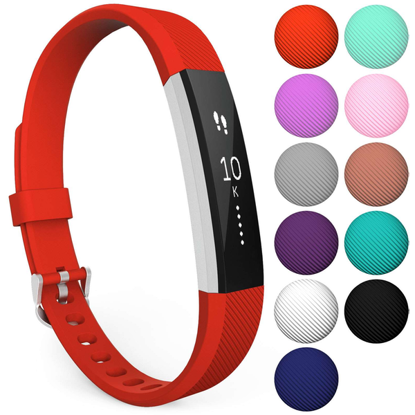 Yousave Fitbit Alta / Alta HR Strap Single Small - Red