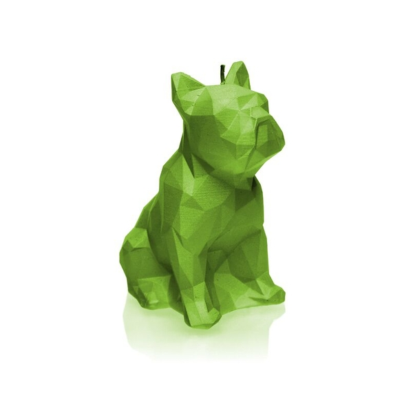 Lime Low Poly Bulldog Candle