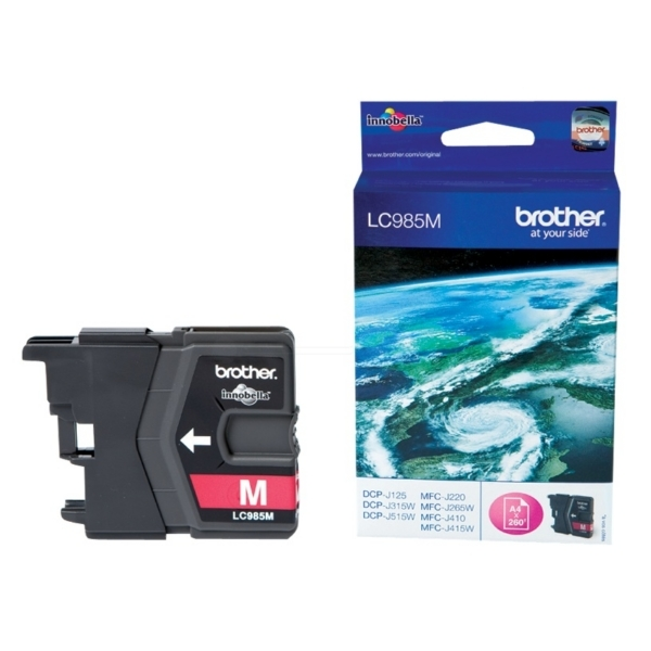 Brother LC-985M Ink cartridge magenta, 260 pages, 5ml