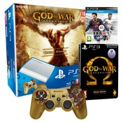 500GB Super Slim Console Special Edition White + God of War Ascension Steelbook + FIFA 14 Game PS3