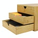 Bamboo Desktop 3 Drawer | M&W Slim Opening - Image 3