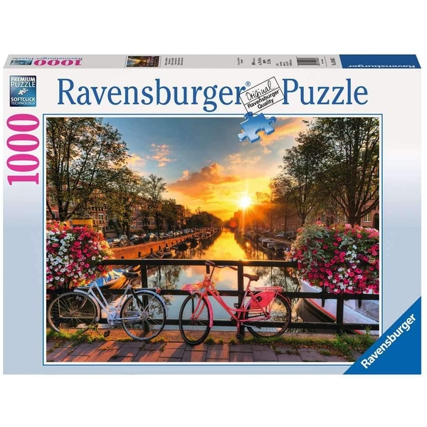 Bicycles in Amsterdam Jigsaw Puzzle - 1000 Pieces