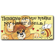 Thinking Of You Makes My Heart Smile Smiley Magnet Pack Of 12