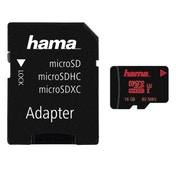 Hama microSDHC 16GB UHS Speed Class 3 UHS-I 80MB/s + Adapter/Photo