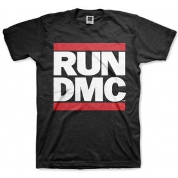 Run DMC Logo Black Mens T Shirt: Medium