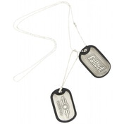 Fallout Vault-Tec Silver Dog Tags