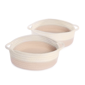Cotton Rope Storage Baskets - Set of 2 | M&W Cream & White