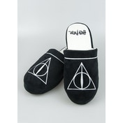 Harry Potter Deathly Hallows Adult Mule Slippers UK Size 8-10