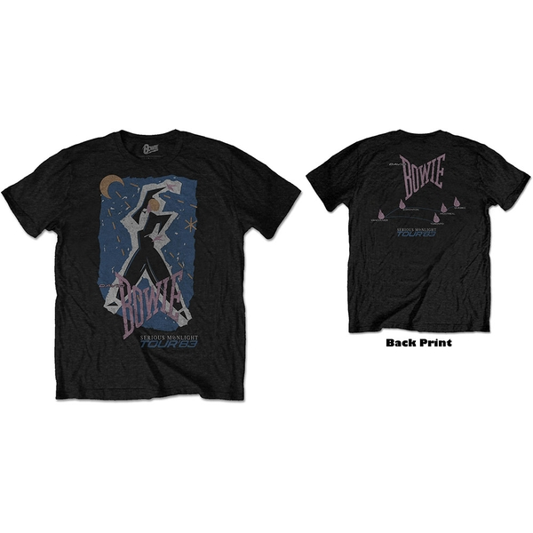 David Bowie - 83' Tour Unisex Large T-Shirt - Black