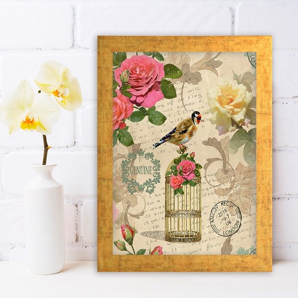 AC1261075393 Multicolor Decorative Framed MDF Painting