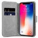 Apple iPhone X Slim PU Leather Stand Wallet Case - Black - Image 2
