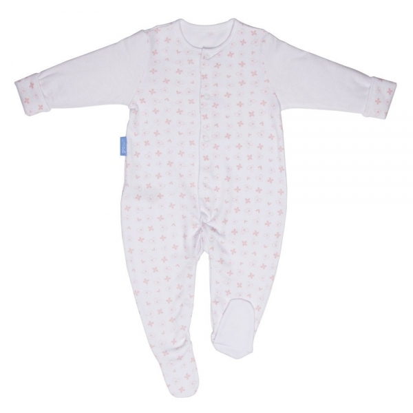 Grobag Twin Pack Pink Hearts Gro-Suit 6-9 Months