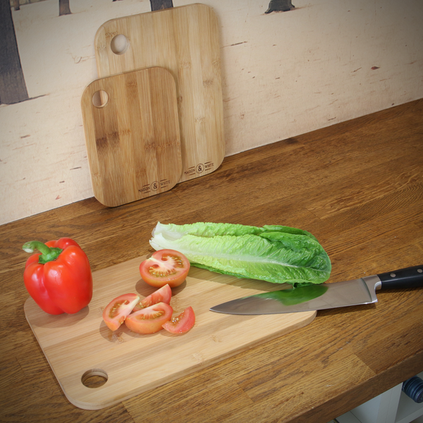3 Bamboo Chopping Boards   M&W - Image 3