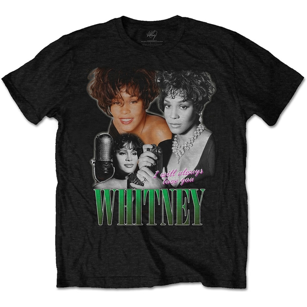 Whitney Houston - Always Love You Homage Unisex Medium T-Shirt - Black