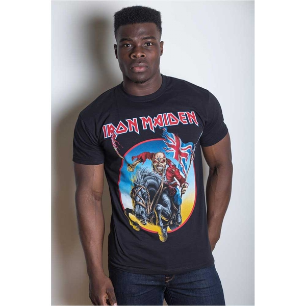 Iron Maiden - Euro Tour Unisex Medium T-Shirt - Black