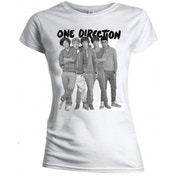 One Direction Group Standing Blk & White Skinny TS: XL