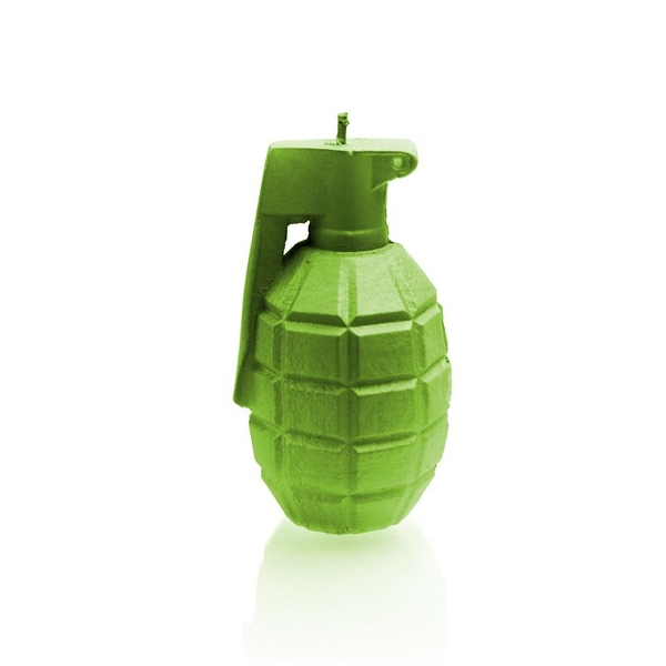 Lime Small Grenade Candle