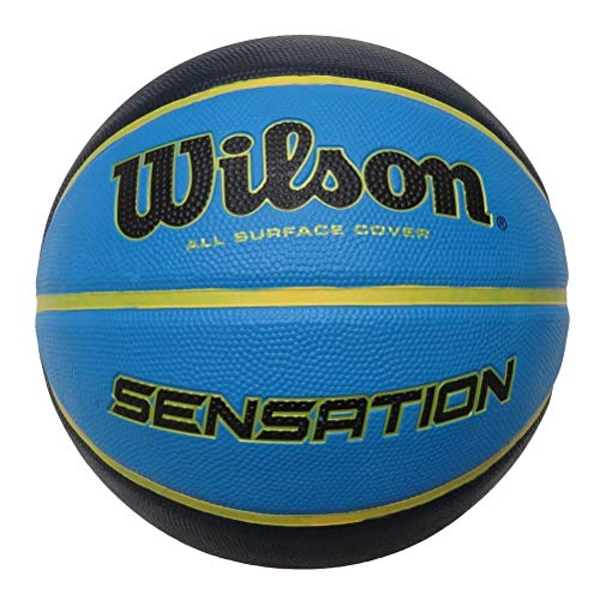 Wilson Unisex's Sensation Senior Basketball, Blue, 7