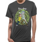 Rick And Morty - Spiral Men's Large T-Shirt - Grey