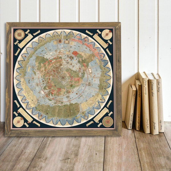 Map089 Multicolor Decorative Framed MDF Painting