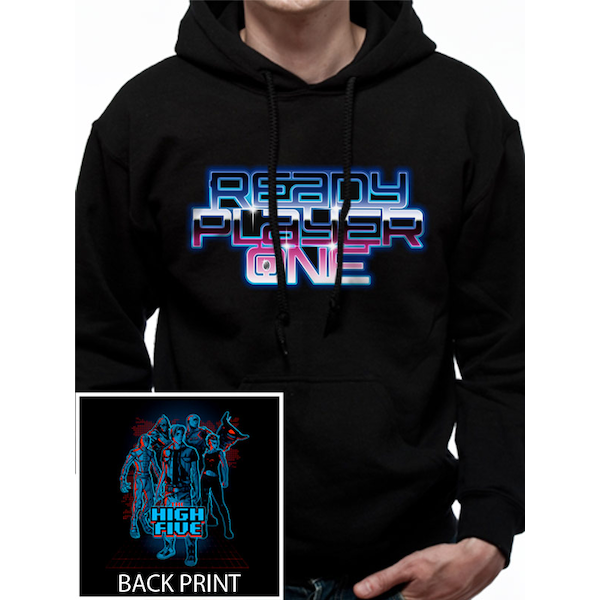 Ready Player One - High Five Men's Small Hooded Sweatshirt - Black