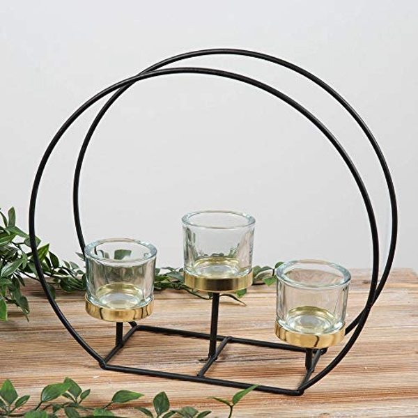 HESTIA? 3 Glass Tealight Holder on Round Stand