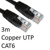 RJ45 (M) to RJ45 (M) CAT6 3m Black OEM Moulded Boot Copper UTP Network Cable