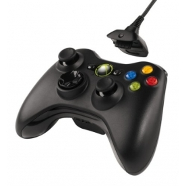 Ex-Display Official Microsoft Black Wireless Controller with Play & Charge Kit Xbox 360 Used - Like New