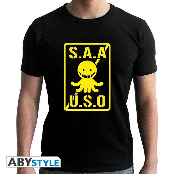 Assassination Classroom - S.A.A.U.S.O Men's X-Large T-Shirt - Black