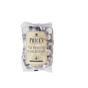 Price's Candles White Tealights Pack 50