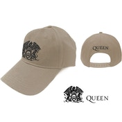 Queen - Black Classic Crest Men's Baseball Cap - Sand