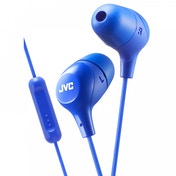 JVC HAFX38MA Marshmallow Custom Fit In-Ear Headphones with Remote & Mic Blue