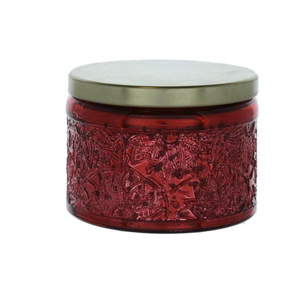Wax Filled Small Candle Pot with Metal Lid Berry Scent 100g