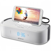 Ex-Display Groov-e TimeCurve Alarm Clock Radio with USB Charging Station White UK Plug Used - Like New