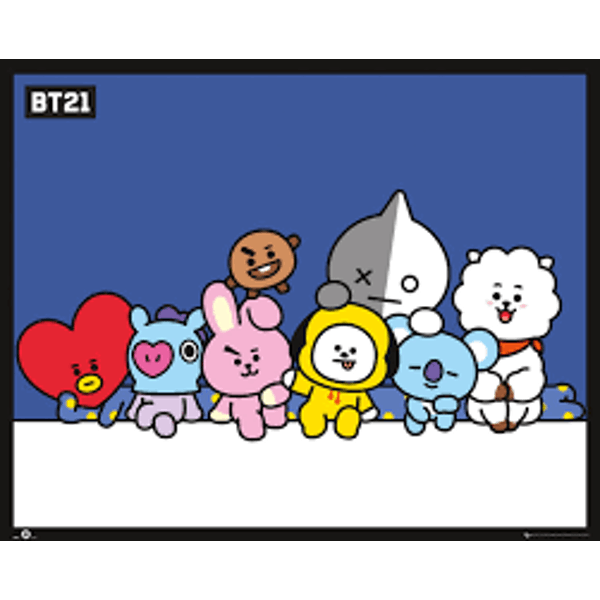 BT21 - Group Mini Poster