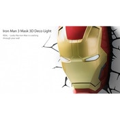 Ex-Display Iron Man 3 Mask 3D Deco Light (Marvel) by 3D Light FX