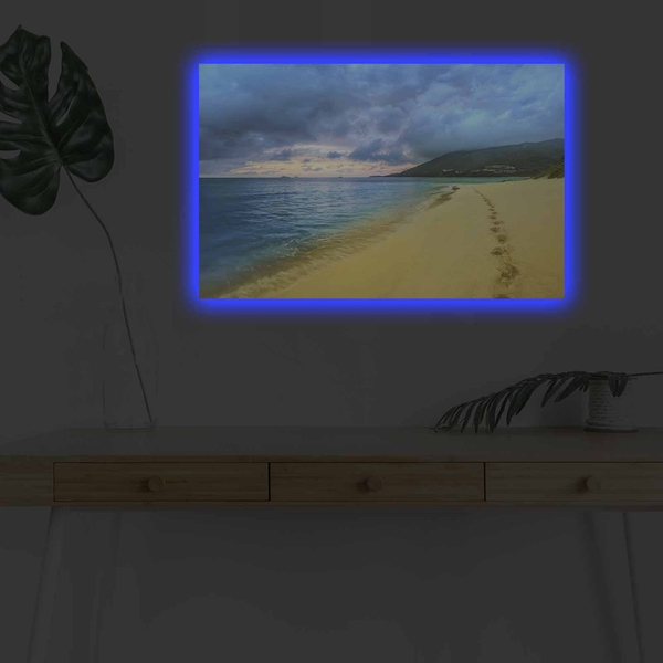 4570DHDACT-059 Multicolor Decorative Led Lighted Canvas Painting