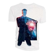 Doctor Who - 12th Doctor Galaxy Coat Lining Men's Large T-Shirt - White