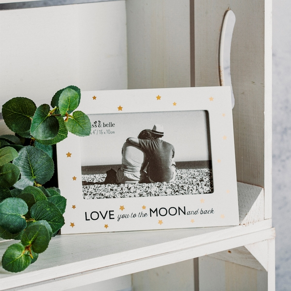 Sass & Belle Love You To The Moon Golden Stars Photo Frame