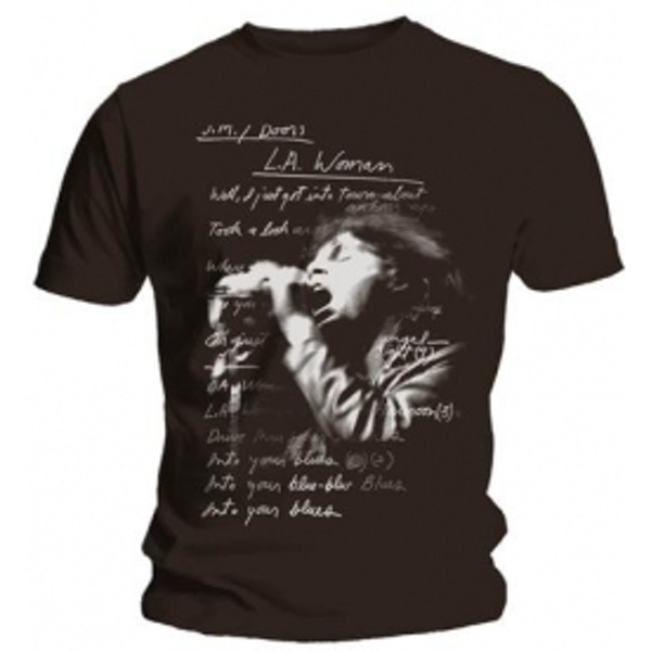 The Doors LA Woman Lyrics Mens Black T Shirt: Small