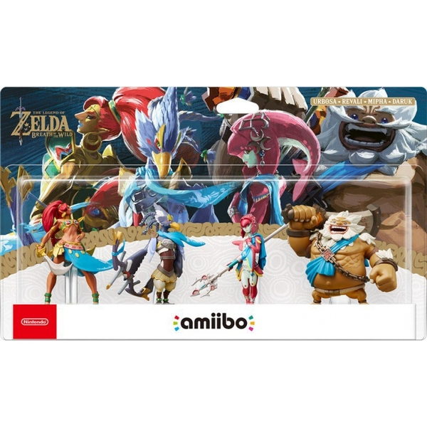 Daruk + Urbosa + Revali + Mipha (4pk) Amiibo (The Legend of Zelda Breath of the Wild)