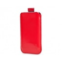 Sox Classic Light Leather Strap Red Mobile Phone Pouch for iPhone/Samsung