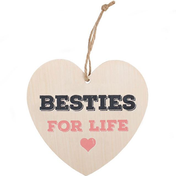 Besties For Life Hanging Heart Sign