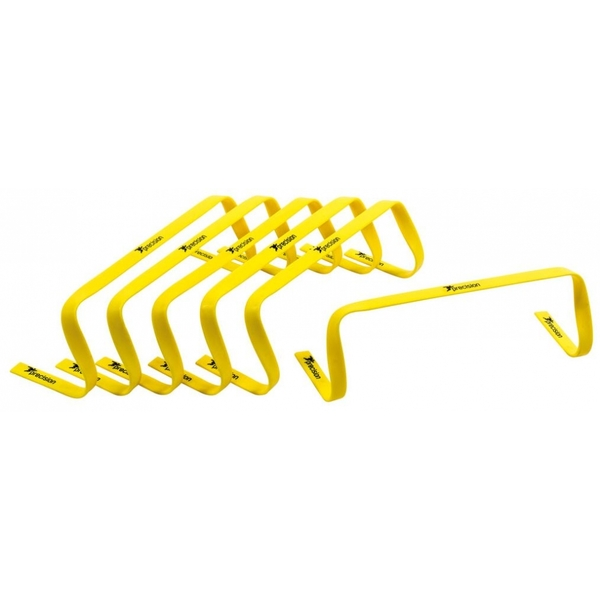 Precision 6inch High Flat Hurdles Set Yellow ( Set of 6 )