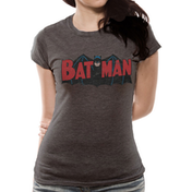 Batman - Authentic Logo Women's X-Large T-Shirt - Grey